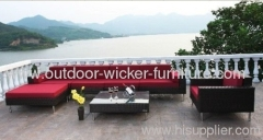 Patio wicker sofa sets with stainless steels
