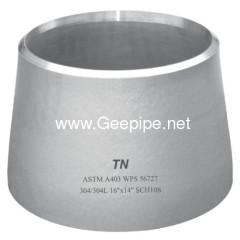 DIN stainless steel butt welded seamless concentric reducer