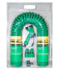 15M Garden Coil Hose With 4-Pattern Trigger Nozzle