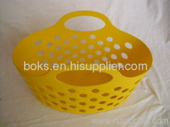 plastic soft baskets with handle