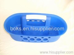 plastic handle bath basket plastic household basket