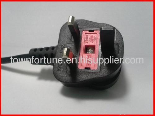 UK molded dummy earth power cord