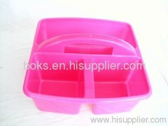 plastic shower caddy (3 cell) laundry baskets