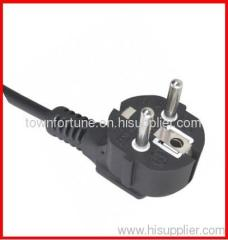 16A Schuko angled power cord