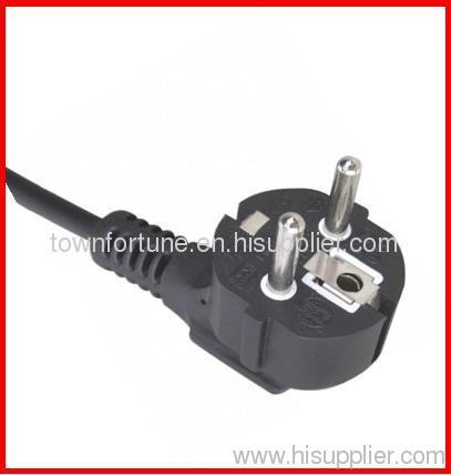 16A Schuko angled power cord