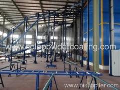 Ligne de revêtement en poudre pour la peinture verticale des profilés en aluminium