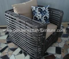 2013 New Outdoor big round wicker furniture garden sofa set