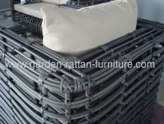 2013 New Outdoor round wicker sofa set garden furniture loun