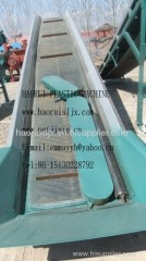 conveyor for plastic recycling forwarder