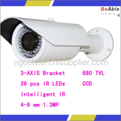 4-9mm Lens 680 TVL Day & Night Waterpoof IP Ccd Camera