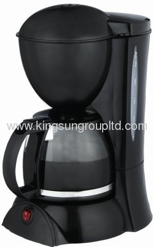 Black drip coffee maker