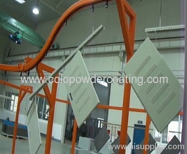 full powder coating line for spraying steel control cabinet