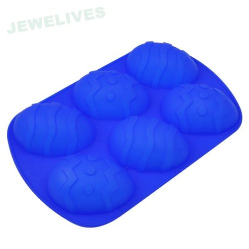 Colorful Silicone cake moulds in Easter eggs shape
