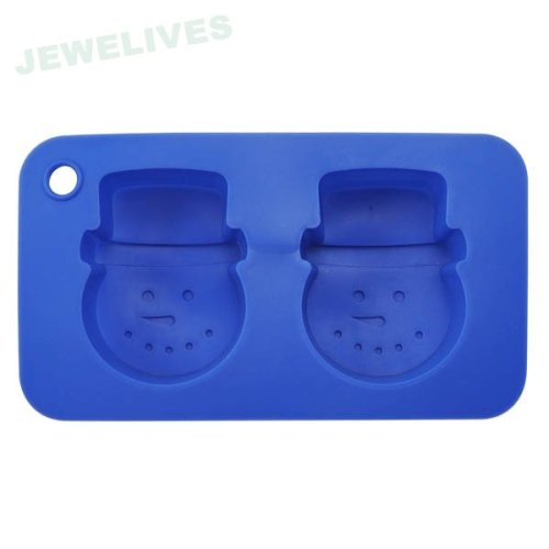 Brand new lovely snowman shaped slicone bakeware cake pans