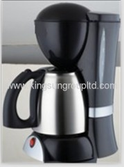 black electric drip coffee maker