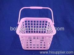 plastic household handle storage basket