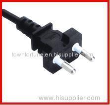Korea 2pin 16A plug with cords