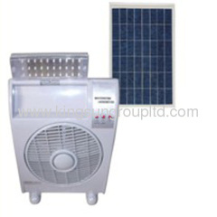 solar rechargeable stand fan