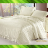 Stripe silk bed sheet