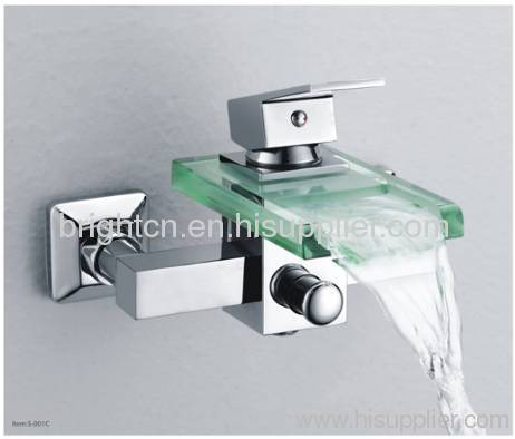 glass waterfall LED faucet