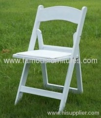 PP foldable tiffany white chairs