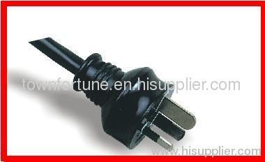 SAA 3 pin plug with cords
