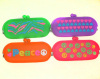 Candy-color Super Q Silicone glasses bag, make-up zipper bag explosion models drip silicone wallet purse