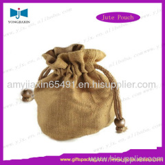 drawstring jute jewelry bag