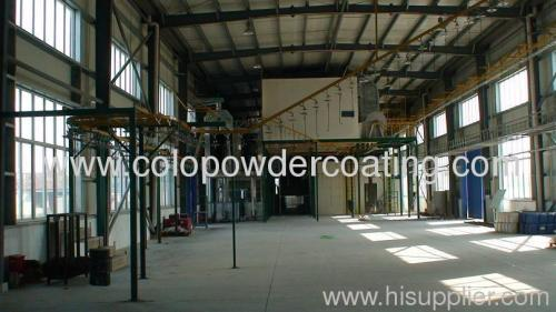 complete automatic powder coating line for hardware