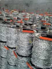 galvanized barbed wires barrier