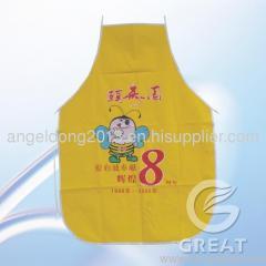 non wove apron for advertisement