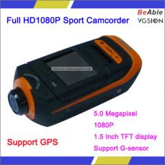 5.0 Megapixel Support G-sensor And GPS HD1080P Sport Camera