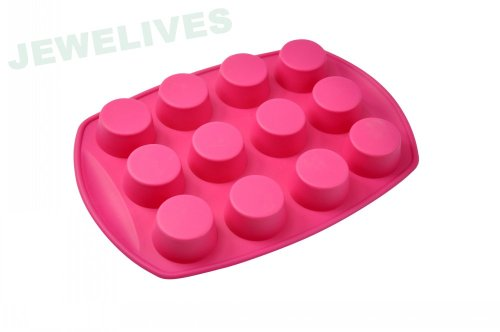 12 cups 100% Silicone Cake mould