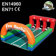 Inflatable Derby Race Game