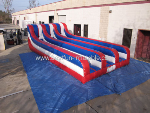 Inflatable 3 Lane Bungee Run