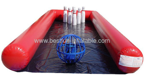 Inflatable Bubble Bowling Game