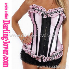 Sexy Pink Fashion Overbust Corset