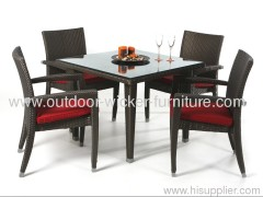 Patio wicker dining sets square table with chairs