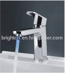 LED single hole basin faucet
