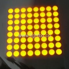 """Matriz Ultra Bright Amber 2.0 """"5mm 8 x 8 puntos llevó la exhibición de signos en movimiento, a través de mensajes de tráfico, sistemas quene"""