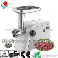electric meat grinder with stainless steel housing with GS