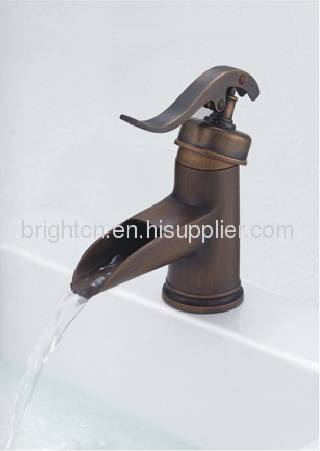 LED bronze single handle basin faucet