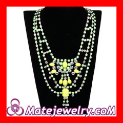 Crystal Statement Collar Bib Necklace