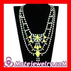 Crystal Statement Collar Bib Necklace