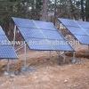Adjustable solar mounting bracket for ground