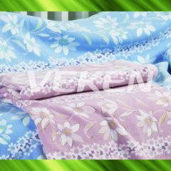 Bamboo fiber fleece blanket