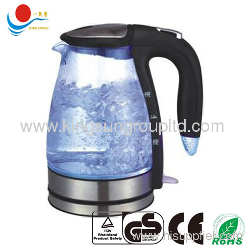 1.7L ELECTRIC GLASS KETTLE WITH DIGITAL WINDOW