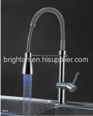 LED kitchen spring faucet