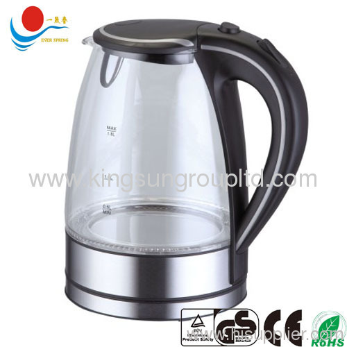 1.7 L cordless electric glass kettle with GS CE ROHS