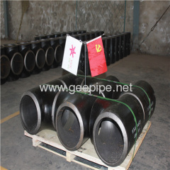 china forged cs seamless pipe fitting straight tee